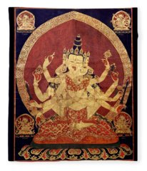 Tibetan Art Fleece Blanket
