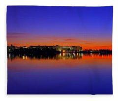 Tidal Basin Sunrise Fleece Blanket