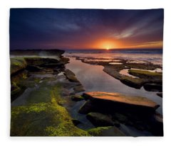 Tidepool Sunsets Fleece Blanket