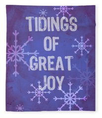 Tidings Of Great Joy Fleece Blanket