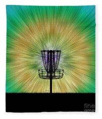 Tie Dye Disc Golf Basket Fleece Blanket