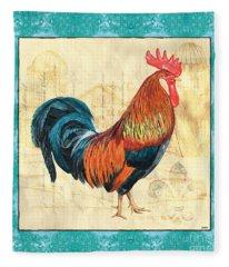 Tiffany Rooster 1 Fleece Blanket