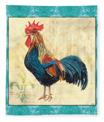 Tiffany Rooster 2 Fleece Blanket