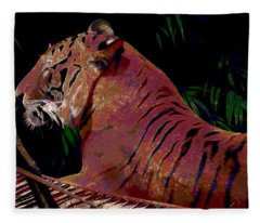 Tiger 2 Fleece Blanket
