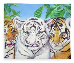 Tiger Cubs Fleece Blanket