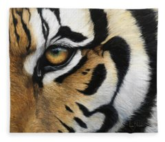 Tiger Eye Fleece Blanket