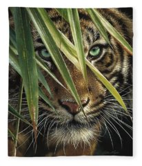 Tiger Eyes Fleece Blanket