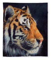 Tiger Profile Fleece Blanket
