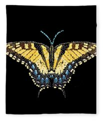 Tiger Swallowtail Butterfly Bedazzled Fleece Blanket