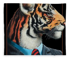 Tigerman Fleece Blanket
