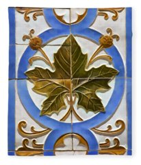 Tile Of Portugal Fleece Blanket
