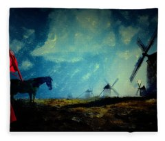 Tilting At Windmills Fleece Blanket