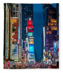 Times Square I Fleece Blanket