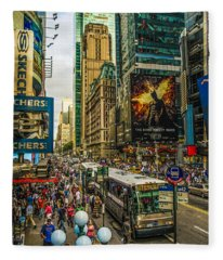 Times Square Fleece Blanket