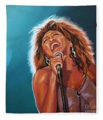 Tina Turner 3 Fleece Blanket