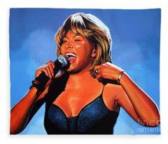 Tina Turner Queen Of Rock Fleece Blanket