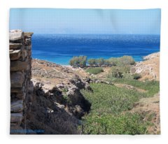 Tinos Island Fleece Blanket