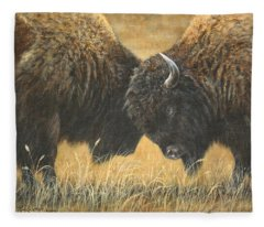 Titans Of The Plains Fleece Blanket