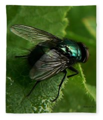 To Be The Fly On The Salad Greens Fleece Blanket