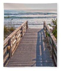 To The Beach Fleece Blanket