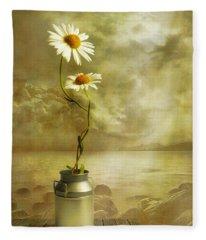 Floral Photographs Fleece Blankets