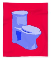 Toilette In Blue Fleece Blanket