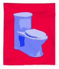 Toilette In Blue Fleece Blanket