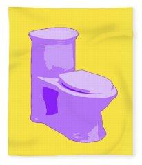 Toilette In Purple Fleece Blanket