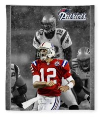 Tom Brady Fleece Blankets