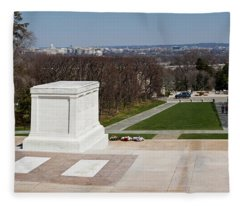 Tomb Of A Soldier In A Cemetery Fleece Blanket