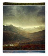 Tombstone Range Seasons Vertical Fleece Blanket