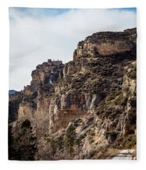 Tongue River Canyon Fleece Blanket