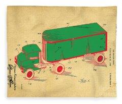 Tonka Truck Patent Fleece Blanket