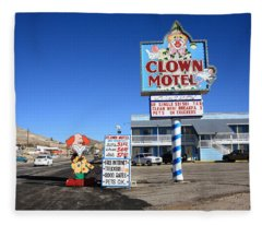 Tonopah Nevada - Clown Motel Fleece Blanket