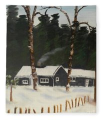 Tonys House In Sweden Fleece Blanket