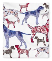 Top Dogs Fleece Blanket
