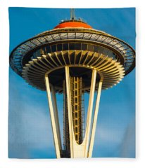 Top Of The Space Needle Fleece Blanket