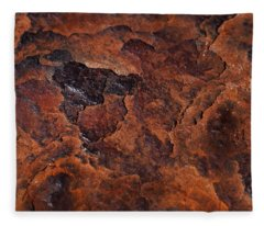 Topography Of Rust Fleece Blanket