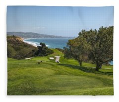 Torrey Pines Golf Course North 6th Hole Fleece Blanket