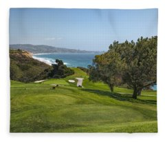 Torrey Pines Golf Course North 6th Hole Fleece Blanket