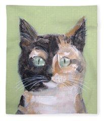 Tortie Cat Fleece Blanket