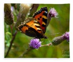 Tortoise Shell Butterfly Fleece Blanket