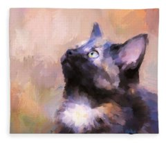 Tortoiseshell Kitten #3 Fleece Blanket