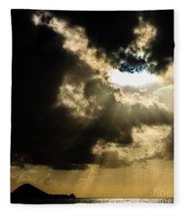 Total Solar Eclipse Breakthrough Fleece Blanket