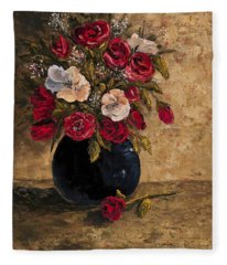 Fleece Blanket featuring the painting Touch Of Elegance by Darice Machel McGuire