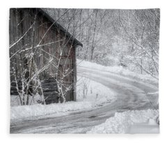 Touched By Snow Fleece Blanket