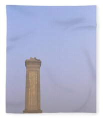 Tourists In Front Of A Monument Fleece Blanket