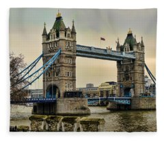 Tower Bridge On The River Thames Fleece Blanket