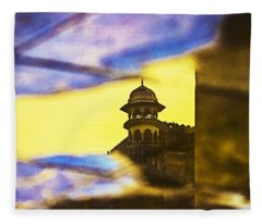 Tower Reflection Fleece Blanket