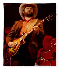 Toy Caldwell Of The Marshall Tucker Band At The Cow Palace Fleece Blanket